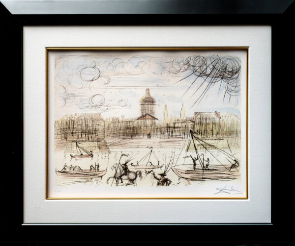 """""""ACADEMY OF FRANCE"""" LITHOGRAPH LIMITED EDITION PLATE SIGNED BY SALVADOR DALI"""